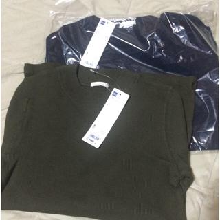 ジーユー(GU)の新品 2点セット カットソー(Tシャツ(長袖/七分))