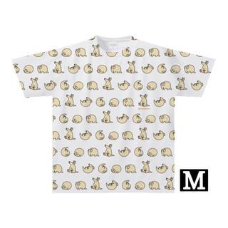 【全面プリント】ツチブタでんぐり返しTシャツ(Mサイズ)(Tシャツ/カットソー(半袖/袖なし))