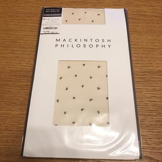 マッキントッシュフィロソフィー(MACKINTOSH PHILOSOPHY)の新品 未使用 マッキントッシュフィロソフィー ドット ストッキング(タイツ/ストッキング)