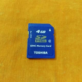 トウシバ(東芝)のSDカード 4GB(PC周辺機器)