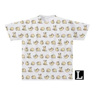 【全面プリント】ツチブタでんぐり返しTシャツ(Lサイズ)(Tシャツ/カットソー(半袖/袖なし))