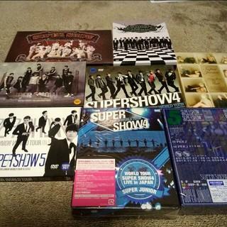 【送料込】韓国版SUPERSHOW1〜5 日本4,5ブルーレイ&DVD7点セット