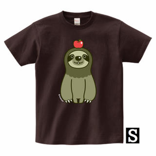 ナマケモノとりんごTシャツ(Sサイズ)(Tシャツ/カットソー(半袖/袖なし))