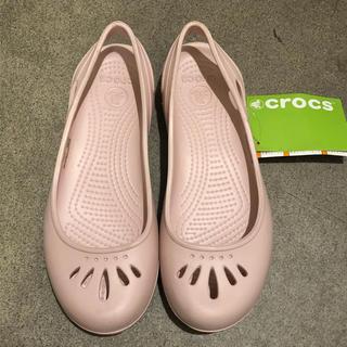 クロックス(crocs)のクロックス レディース  ピンク サイズ7(サンダル)