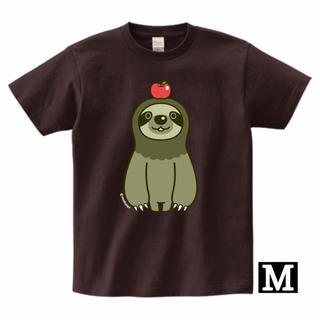 ナマケモノとりんごTシャツ(Mサイズ)(Tシャツ/カットソー(半袖/袖なし))