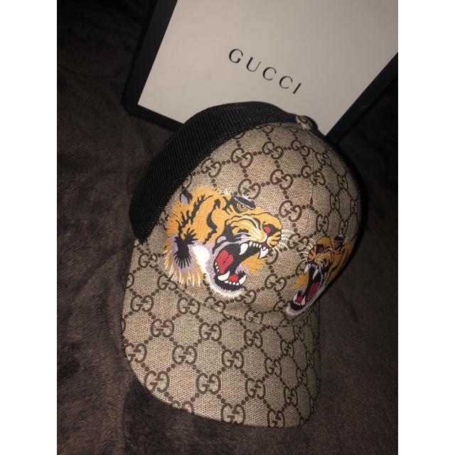 Gucci(グッチ)のgucci キャップ メッシュキャップ タイガー 虎 メンズの帽子(キャップ)の商品写真