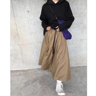 OMNES フレアスカート ブラウン フリーサイズ(ロングスカート)