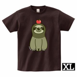 ナマケモノとりんごTシャツ(XLサイズ)(Tシャツ/カットソー(半袖/袖なし))