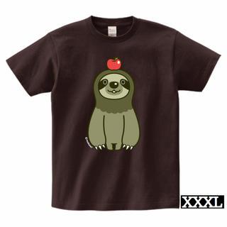 ナマケモノとりんごTシャツ(XXXLサイズ)(Tシャツ/カットソー(半袖/袖なし))