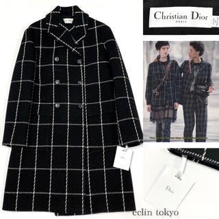 Christian Dior - 新品同 ディオール2018AW タグ付 ロングコート 38 チェック柄 E189
