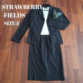 STRAWBERRY-FIELDS - STRAWBERRY-FIELDS スカートスーツ