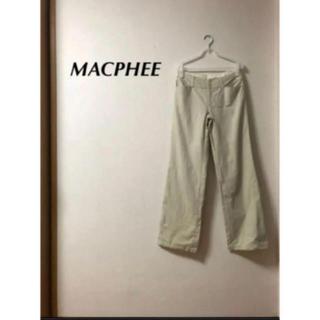 トゥモローランド(TOMORROWLAND)の MACPHEE パンツ(カジュアルパンツ)