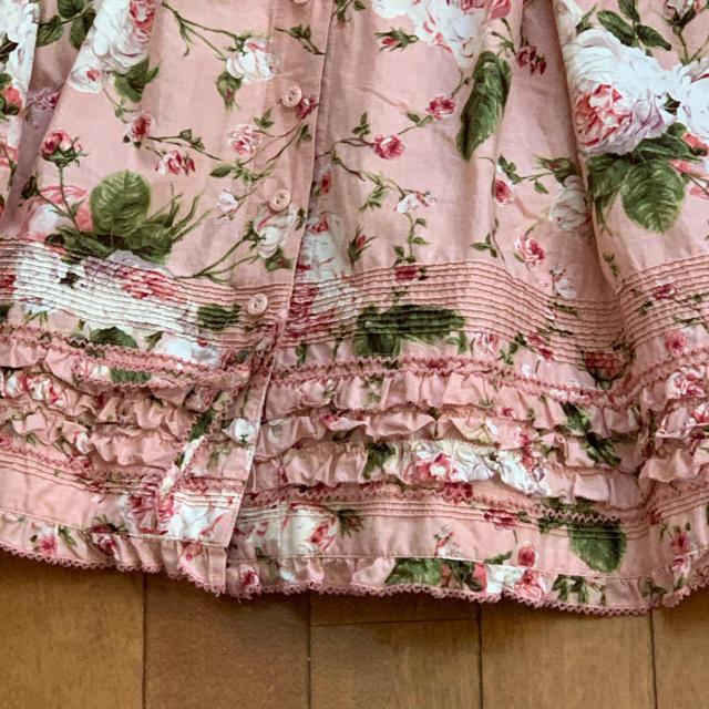PINK HOUSE(ピンクハウス)のピンクハウス★La Reine a la roseレネアラローズ半袖ワンピース レディースのワンピース(ロングワンピース/マキシワンピース)の商品写真