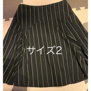 エゴイスト(EGOIST)のEGOIST★ストライプ フレアスカート サイズ2(ひざ丈スカート)