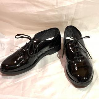 アメリカンアパレル(American Apparel)のアメリカンアパレル❤︎黒レースアップシューズ❤︎25㎝(ローファー/革靴)