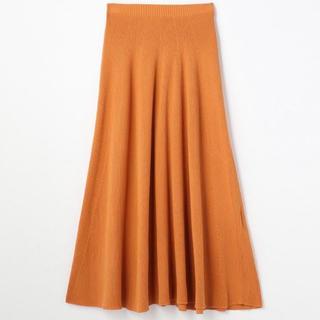 トゥモローランド(TOMORROWLAND)のマカフィー Macpheeニットスカート オレンジ(ロングスカート)