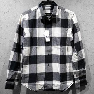 GU - 送料無料★GU/ジーユー OW フランネルチェックシャツ★