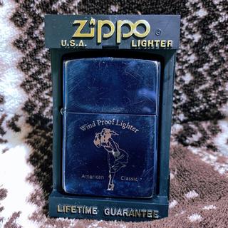 ジッポー(ZIPPO)のZIPPO ケース付き ビンテージ ブルー (タバコグッズ)