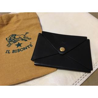 イルビゾンテ(IL BISONTE)の期間限定価格 イルビゾンテ 正規品 イタリアンレザー カードケース 名刺入れ 黒(名刺入れ/定期入れ)