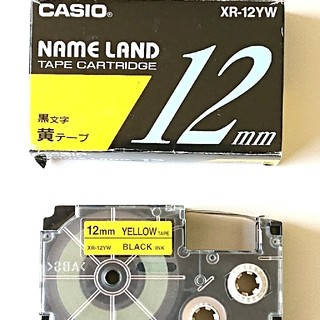 CASIO - ☆純正品!CASIO カシオ ネームランド テープ 12mm イエロー!