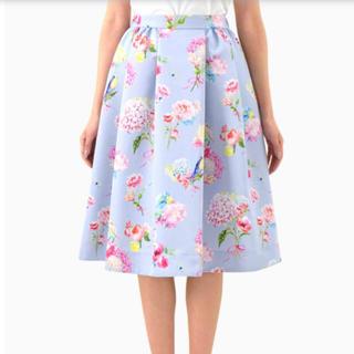 Chesty - chesty バードフラワーブーケスカート ブルー
