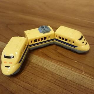 タカラトミーアーツ(T-ARTS)のカプセルプラレール「手押しタイプ 923形ドクターイエロー 3両編成」(鉄道模型)