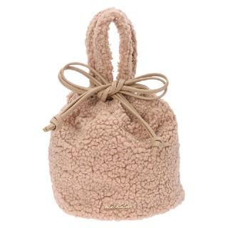 メゾンドフルール(Maison de FLEUR)の【美品】メゾンドフルール ボア巾着バッグ(ハンドバッグ)