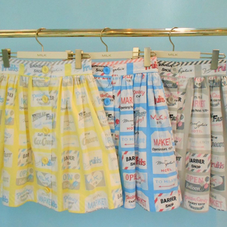 MILK - MILK スカート 水色