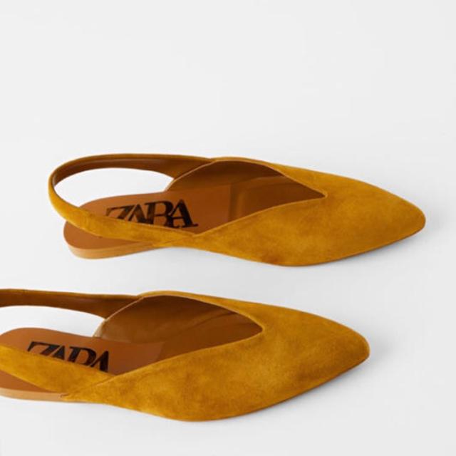 ZARA(ザラ)のZARA 未使用スエードフラットシューズ レディースの靴/シューズ(ハイヒール/パンプス)の商品写真