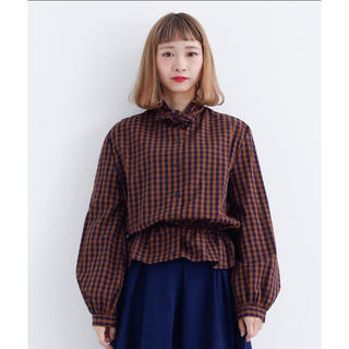 merlot - チェックシャツ