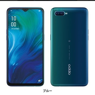 ANDROID - OPPO Reno A blue 64GB SIMフリー 納品書同封