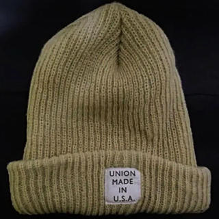 Ron Herman - ロンハーマンUNIONMADEINU.S.Aベージュロンゲージニット帽フリー新品