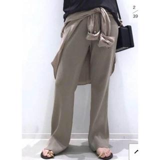 L'Appartement DEUXIEME CLASSE - L'Appartement Rib Knit パンツ ベージュ36 ニットパンツ