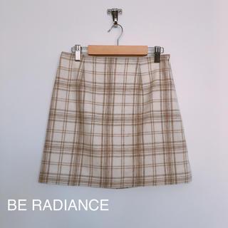 ビーラディエンス(BE RADIANCE)のビーラディエンス チェック柄ミニスカート(ミニスカート)