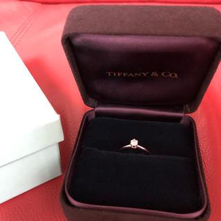 Tiffany & Co. - ティファニー プラチナ ダイヤモンドリング 鑑定済み 9号0.24ct