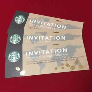 スターバックスコーヒー(Starbucks Coffee)のANAスターバックス♡ドリンク無料♡3枚(フード/ドリンク券)