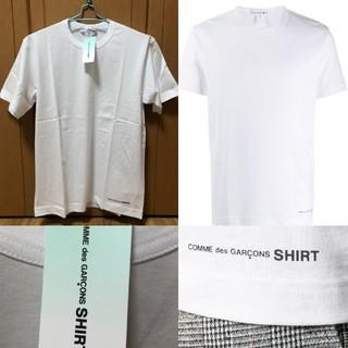コムデギャルソン(COMME des GARCONS)の【新品】コムデギャルソンシャツ ロゴ 半袖 Tシャツ S ホワイト 白(Tシャツ/カットソー(半袖/袖なし))