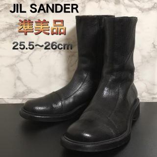 ジルサンダー(Jil Sander)の【準美品】JIL SANDER サイドジップレザーブーツ(ブーツ)