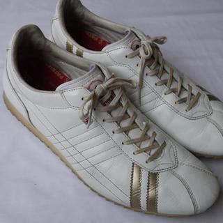 パトリック(PATRICK)のパトリックシュリー45◆レザースニーカー28cmホワイトゴールドメンズ靴(スニーカー)