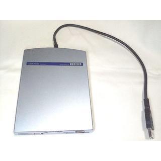 アイオーデータ(IODATA)のI-O DATA USB-FDX4 希少・4倍速フロッピードライブ 美品!(PC周辺機器)