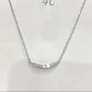 4℃ - 4℃ プラチナ ダイヤモンド ライン ネックレス
