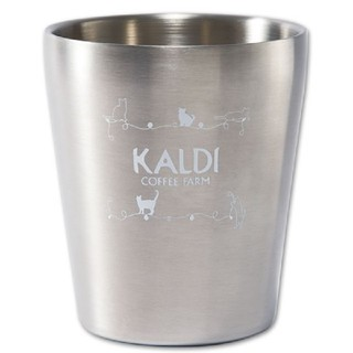 カルディ(KALDI)のカルディ ネコの日バッグ プレミアム ステンレスタンブラー(タンブラー)