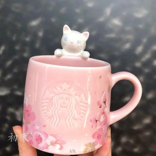 Starbucks Coffee - 猫 桜 マグカップ フィギュア タンブラー マグカップ 台湾スターバックス