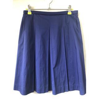 マッキントッシュフィロソフィー(MACKINTOSH PHILOSOPHY)のマッキントッシュフィロソフィー ★ スカート ボックスプリーツ ブルー 36 S(ひざ丈スカート)