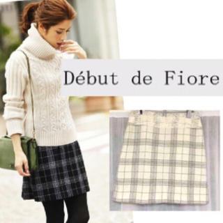 デビュードフィオレ(Debut de Fiore)の雑誌掲載♪2014AW美品スカート(ミニスカート)