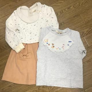 フランシュリッペ(franche lippee)のフランシュリッペ☆トレーナーとワンピースのセット 100サイズ(Tシャツ/カットソー)