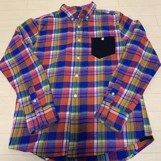 グラニフ(Graniph)の【graniph】 美品 グラニフ チェックシャツ ネルシャツ S(Tシャツ/カットソー(半袖/袖なし))
