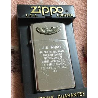 ジッポー(ZIPPO)のZippo US アメリカ製 ジッポー ライター 陸軍エンブレム ビンテージ(タバコグッズ)