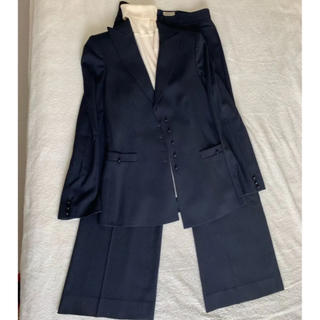 エンポリオアルマーニ(Emporio Armani)のエンポリオ アルマーニ  濃紺  パンツスーツ  美品  クリーニング済み(スーツ)