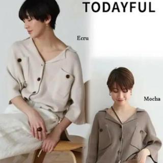 TODAYFUL - 新品♡トゥデイフル  リネンニットシャツ♡アングリッド ザラ アリエス 好きな方